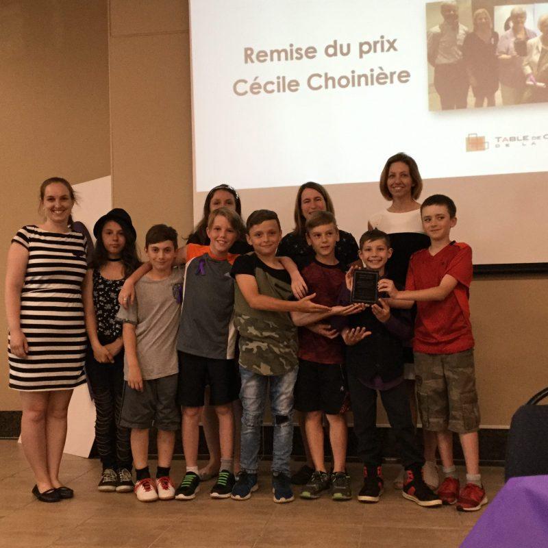 La classe 501 reçoit le prix Cécile Choinière